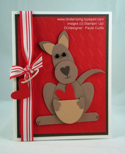 Kangaroo Love Card Punch ListPetal Flower  Earslarge Oval
