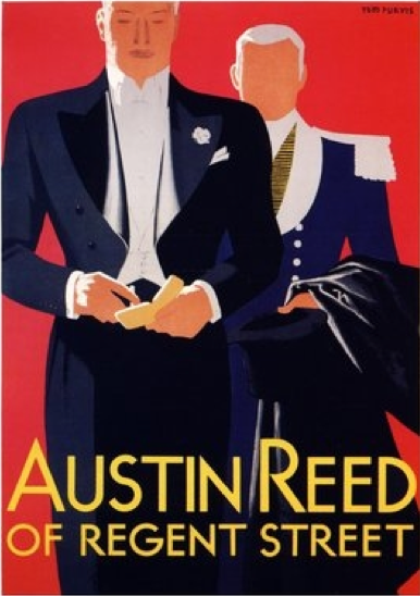 By Tom Purvis 1888 1959 Ca 1930 Austin Reed S Of Regent Street British Vintage Austin Austin Reed Vintage Advertising Posters