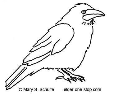Free Animal Template Ideas Crow Pictures Bird Coloring Pages