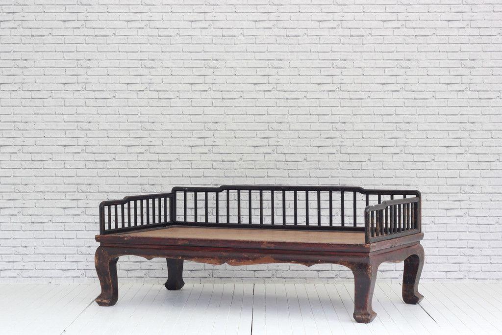 a 19th century chinese hardwood opium bed ? white elephant trading ... - Arredamento White Elephant