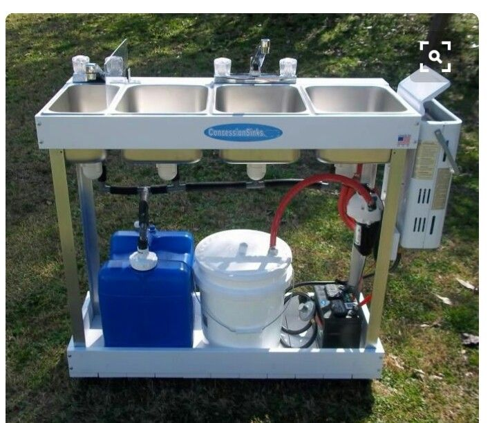 Portable Sink Mobile Concession 3 Compartment Hot Water Large Basin Hand  Washing in Business & Industrial, Restaurant & Catering, Commercial Kitchen  ...