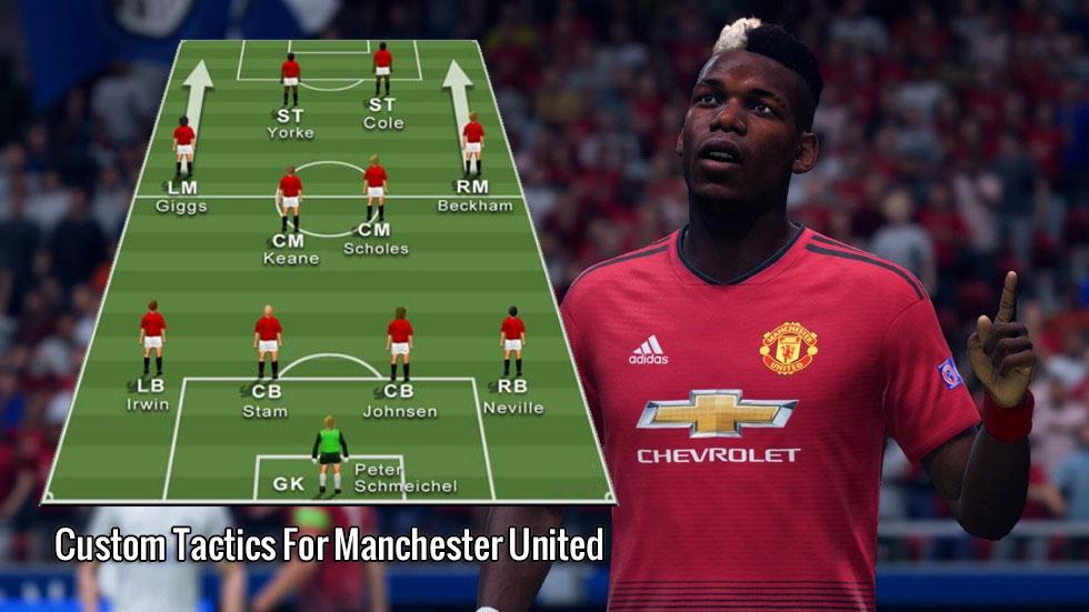 Fifa 20 Custom Tactics For Manchester United Treble Winners U4gm Com Fifa 20 Manchester United Fifa