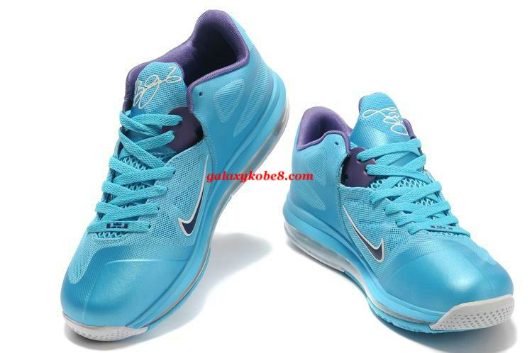 0aa4628a650e Cheap Air Max Lebron 9 Low Tops Summit Lake Hornets Turquoise Court Purple 510811  400  Purple  Womens  Sneakers