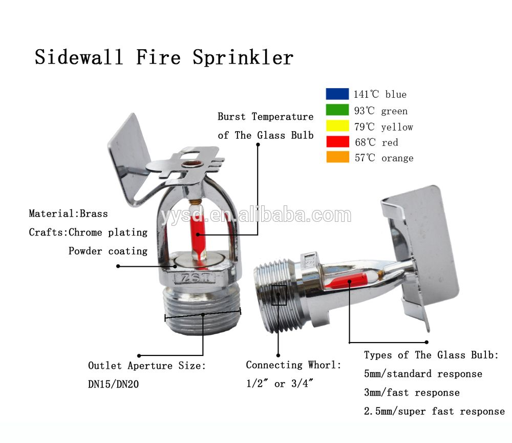 Best price chrome plating fire sprinklersupright type safety fire vaizdo rezultatas pagal uklaus wall mounted sprinklers geenschuldenfo Choice Image