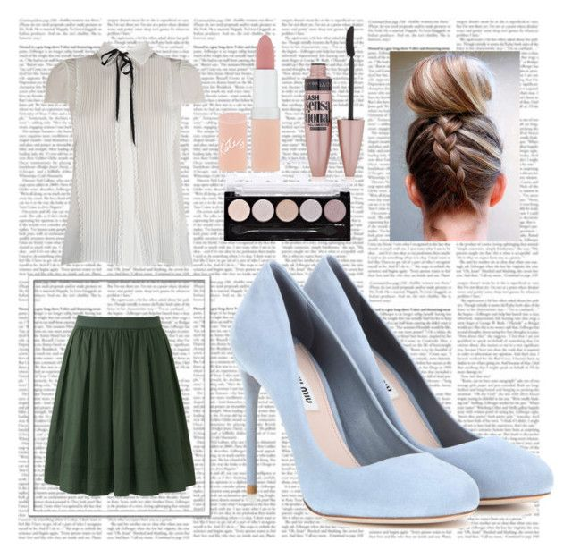 """""""librarian"""" by plutoeyes on Polyvore featuring Uniqlo, Miu Miu, Maybelline and Rimmel"""