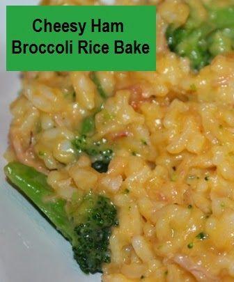 Cheesy Ham Broccoli Rice Bake #Recipe ~ Planet Weidknecht