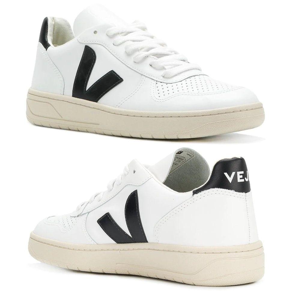 Veja V-10 White & Black Sneakers As Seen On Meghan Markle