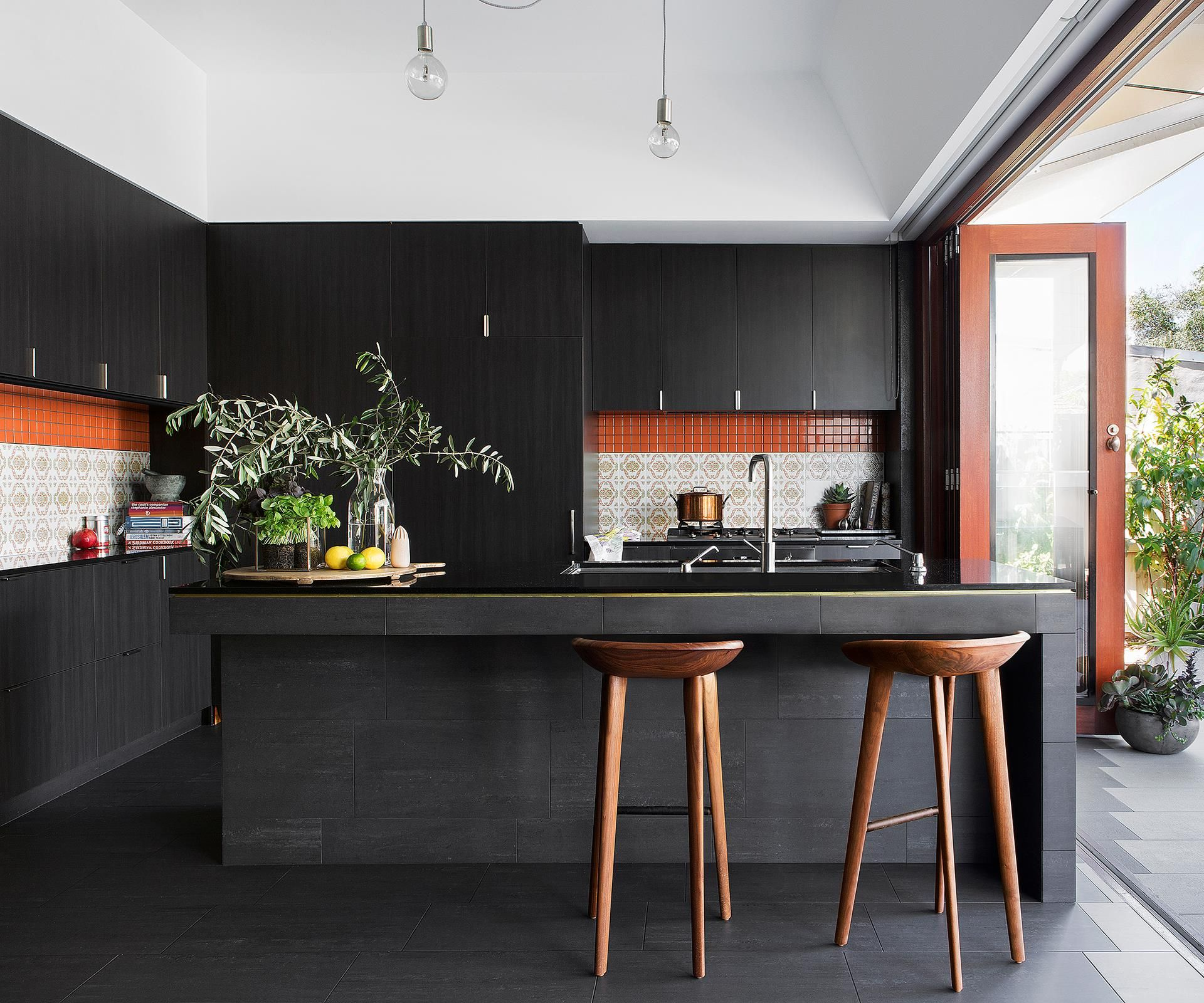 Retro Refit A 70s Inspired Kitchen Matte Black Kitchen Kitchen Interior Interior Design Kitchen