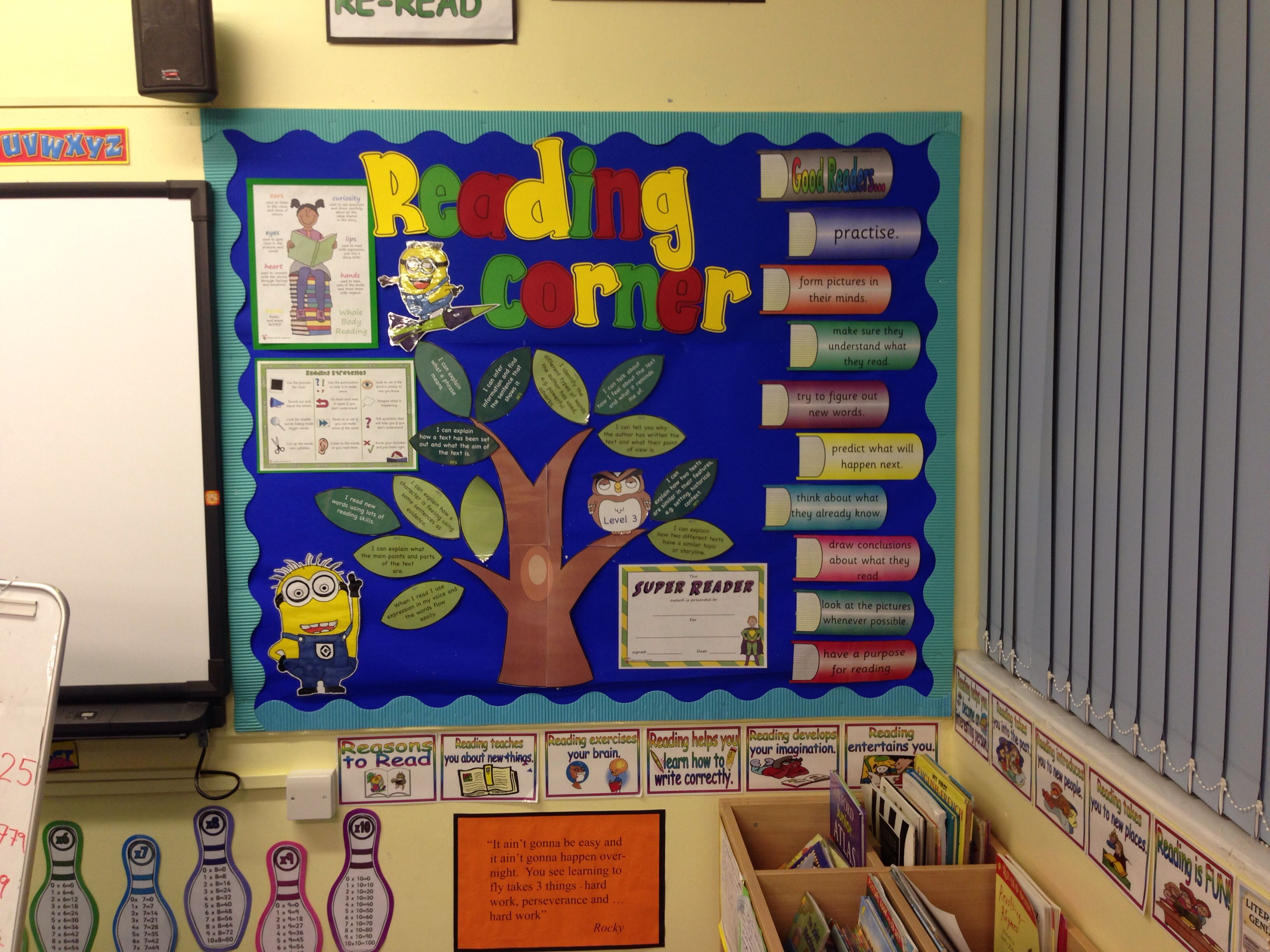 Reading corner display ks2 | board | Pinterest | Reading ...