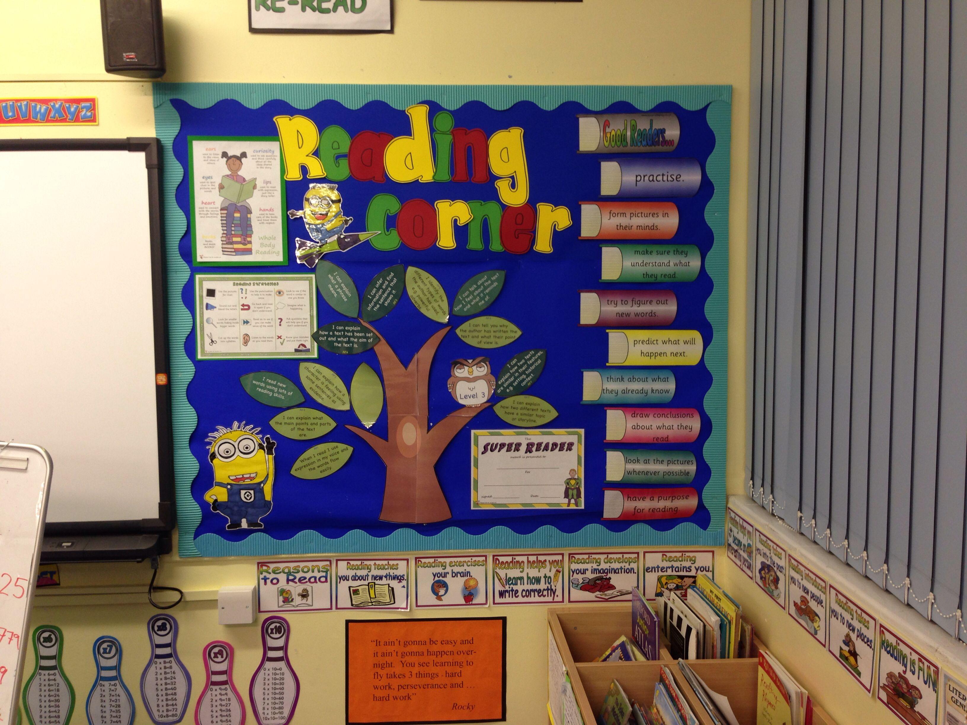 Classroom Display Board Design : Reading corner display ks school pinterest