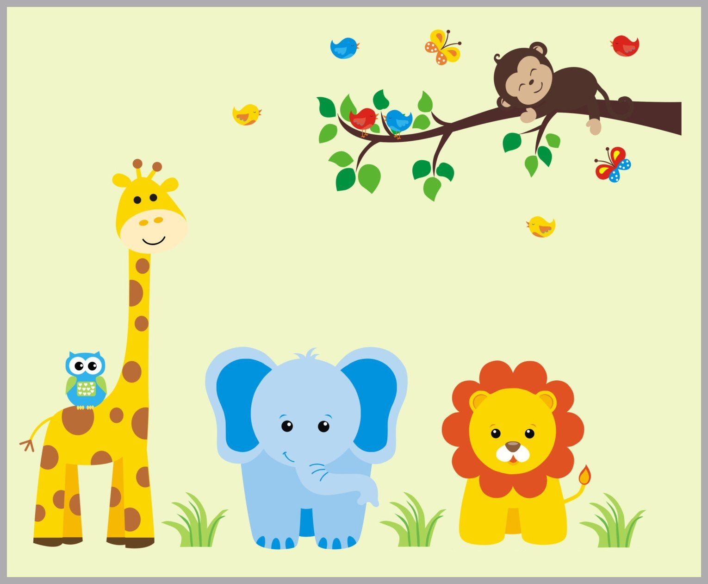 Safari Wall Decals, Jungle Wall Decals, Baby Wall Decals, Nursery ...