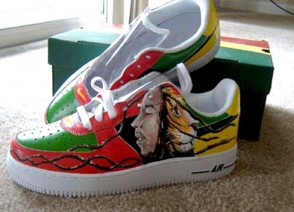 6978a32be6 bob marley shoe designs Bob Marley Shoes, Air Force Sneakers, Nike Air  Force,