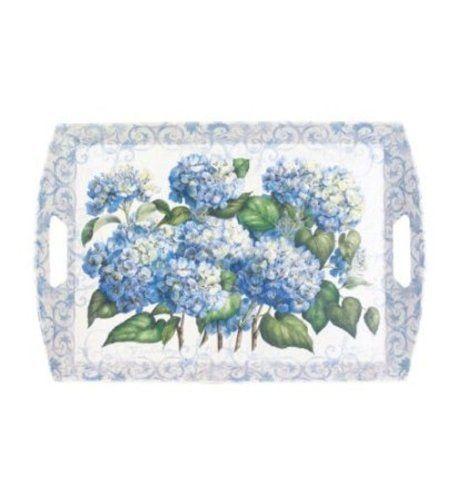 Decorative Plastic Serving Trays Best Melamine Large Plastic Serving Tray With Handles 22 X 15 Hydrangea Design Ideas