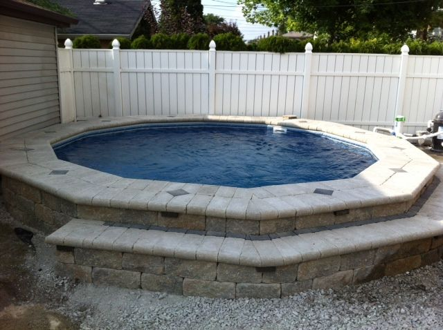 17 Ways To Add Style To An Above Ground Pool: Semi-inground Ultimate Pool By Fabcote!