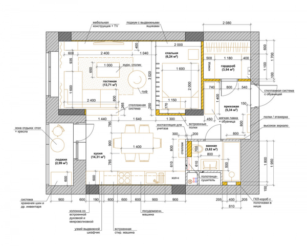 Studioapartmentlayout Interior Layouts Pinterest Studio - Apartment with a smart layout