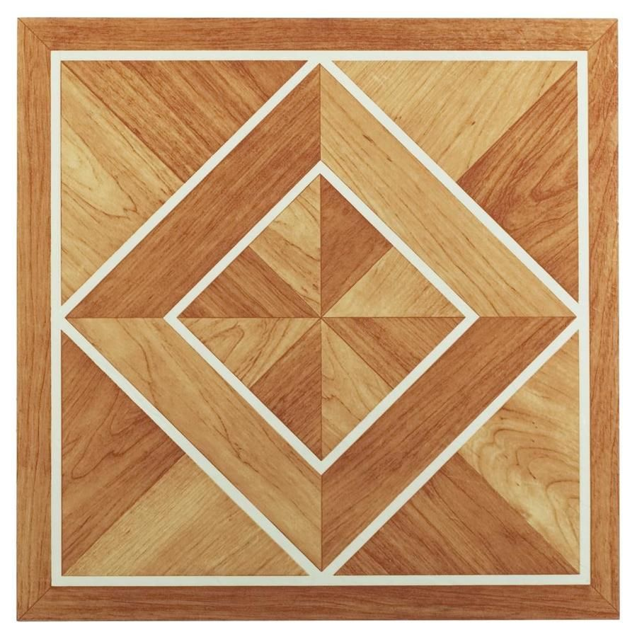 Achim Tivoli 45 Piece 12 In X 12 In White Border Classic Inlaid Parquet Peel And Stick Vinyl Tile Lowes Com In 2020 Vinyl Plank Flooring Tile Floor Luxury Vinyl Tile