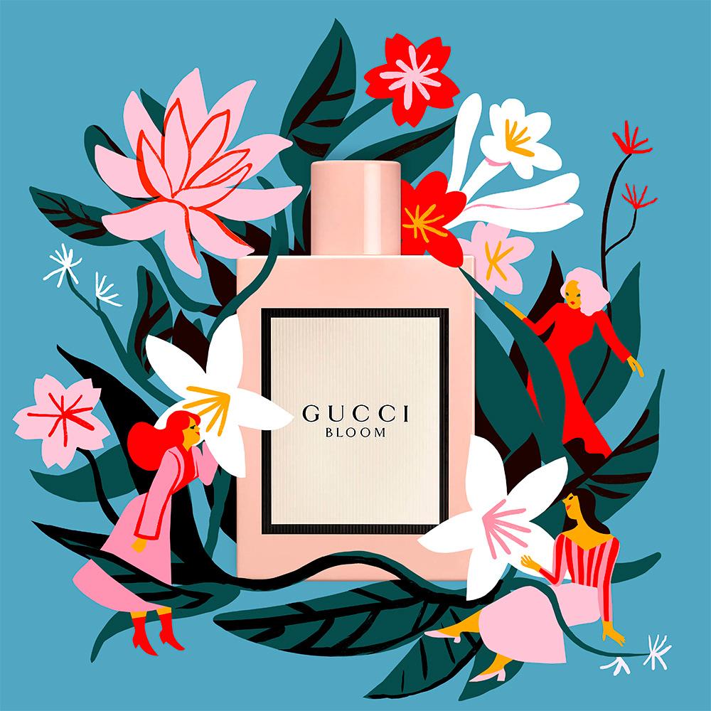 Gucci Bloom On Behance Graphic Design Illustration Outline Artists Flower Illustration
