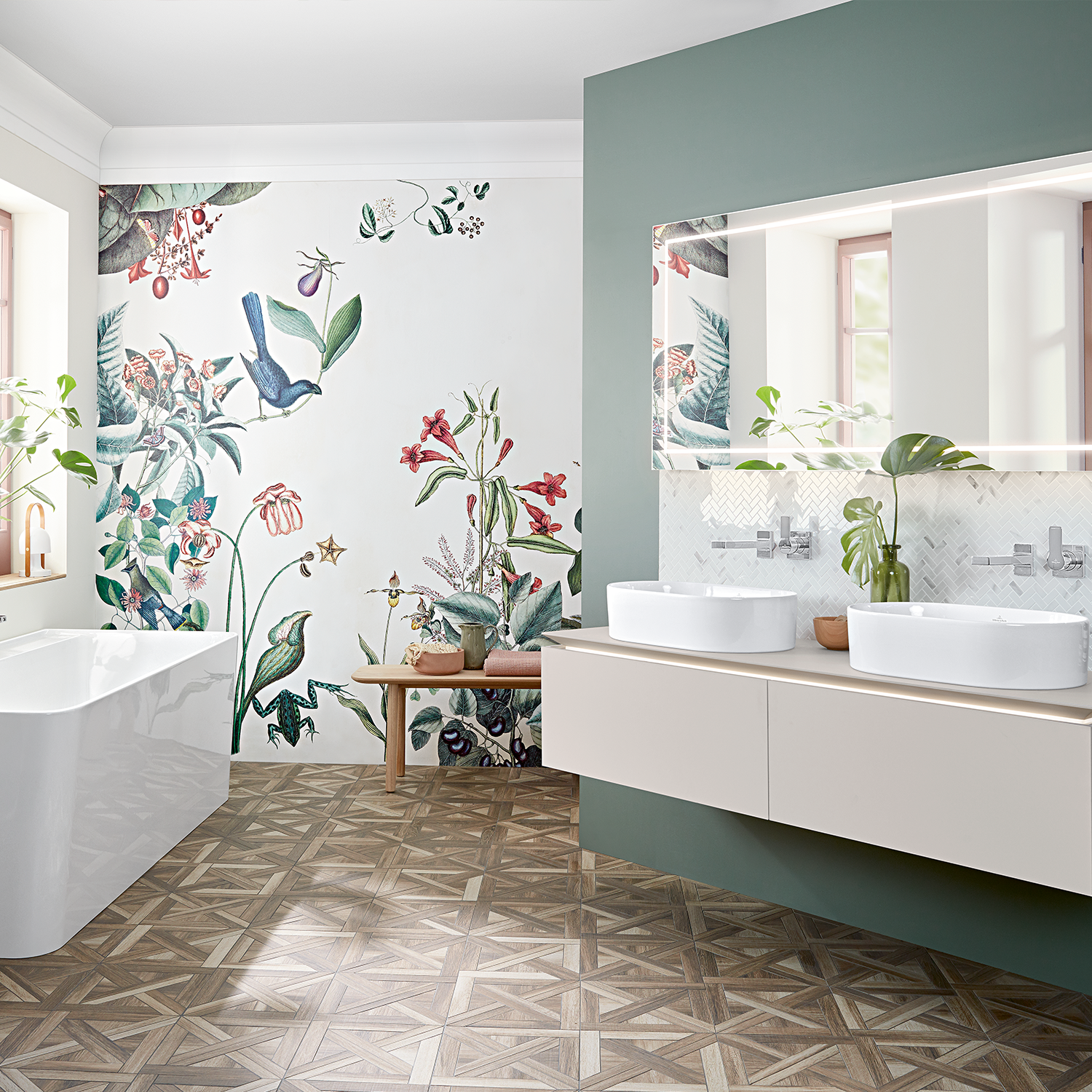 Do You Need Inspiration For Your Family Bathroom Choose A Double Vanity Unit For Enough Space To Get Rea In 2020 Zen Badezimmer Badezimmer Innenausstattung Bad Design