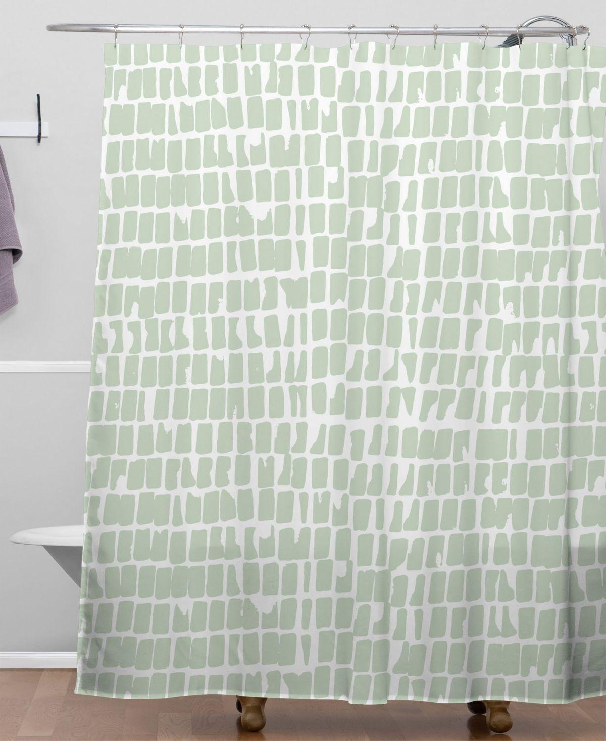 Deny Designs Iveta Abolina Cobbler Square Sage Shower Curtain