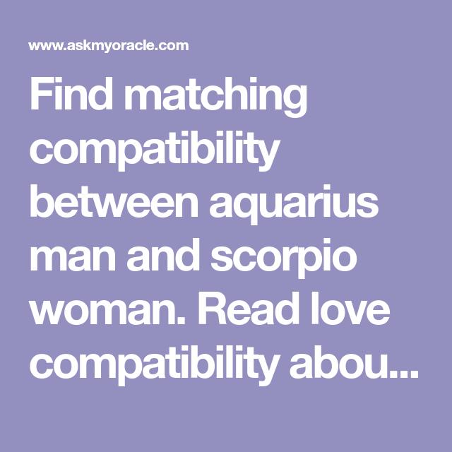 aquarius man in love with scorpio woman