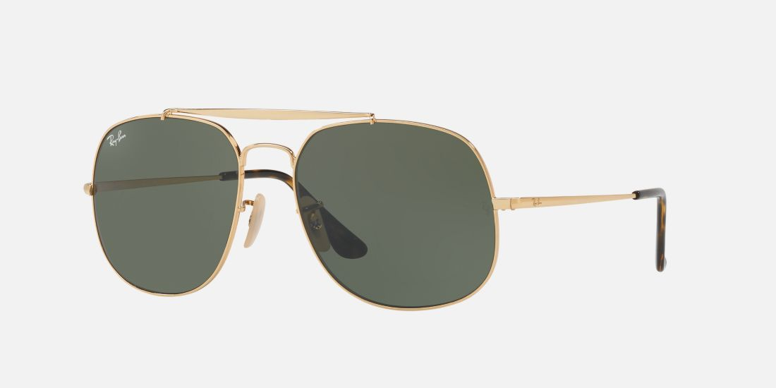 981fbab2829 Ray-Ban RB3561 57 GENERAL 57 Green   Gold Sunglasses