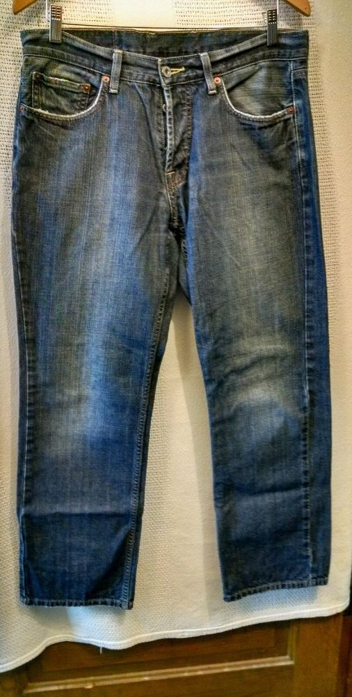 Lucky Brand Men's Jeans 221 Slim Straight Button Fly Mexico 100% Cotton Sz 33 #LuckyBrand #slimstraight