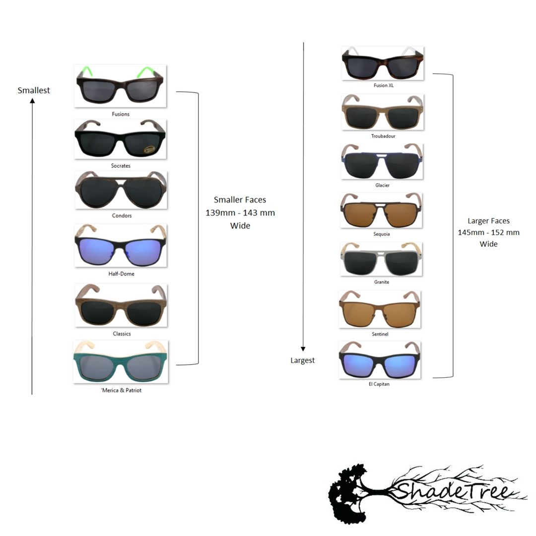Sizing Chart Exchange Policy Sizing Chart Wooden Sunglasses Small Community