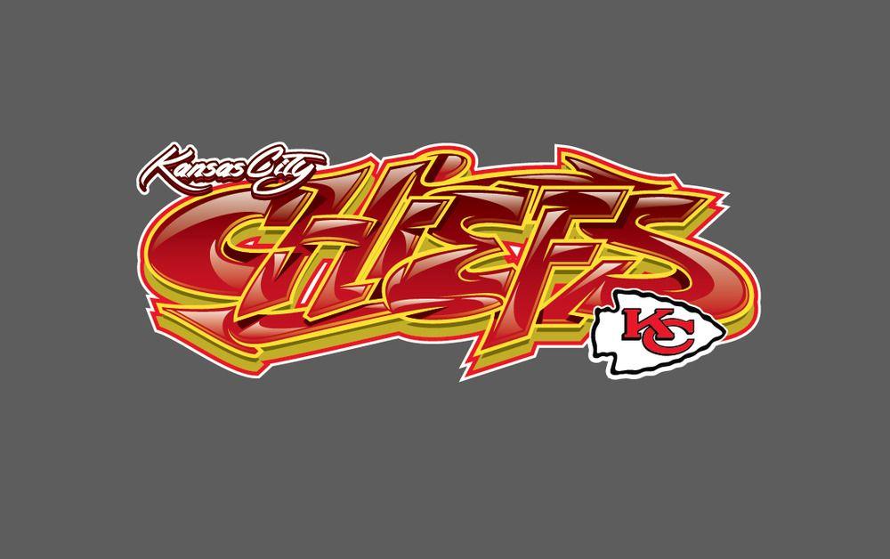 Kansas City Chiefs Graffiti Vinyl Decal 8x3 Kansascitychiefs