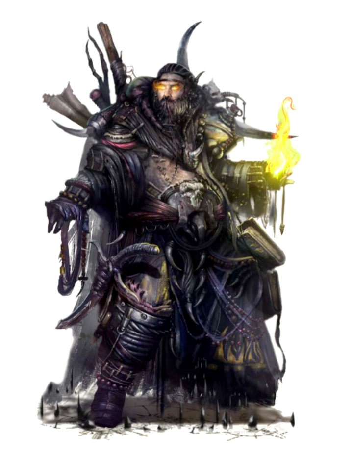 Male Human Evil Druid - Pathfinder PFRPG DND D&D 3 5 5E 5th