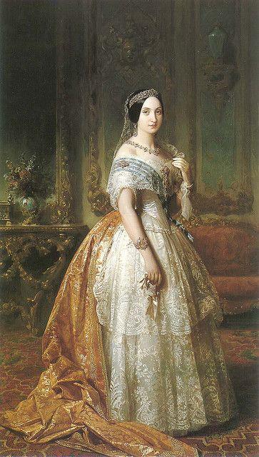 Infanta Luisa Fernanda, hermana de Isabel II por José de Madrazo 19th century spanish painting