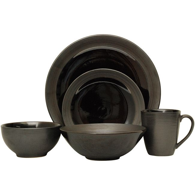 You can impress guests during dinner parties with this stunning 40-piece black · Sango DinnerwareStoneware Dinnerware SetsCasual ...  sc 1 st  Pinterest & Sango 40-piece Bistro Black Stoneware Dinnerware Set by Sango ...