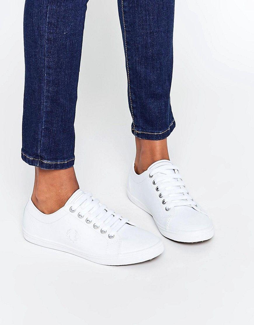 Zapatillas de cuero blancas Kingston de Fred Perry cdK4Ls50e8