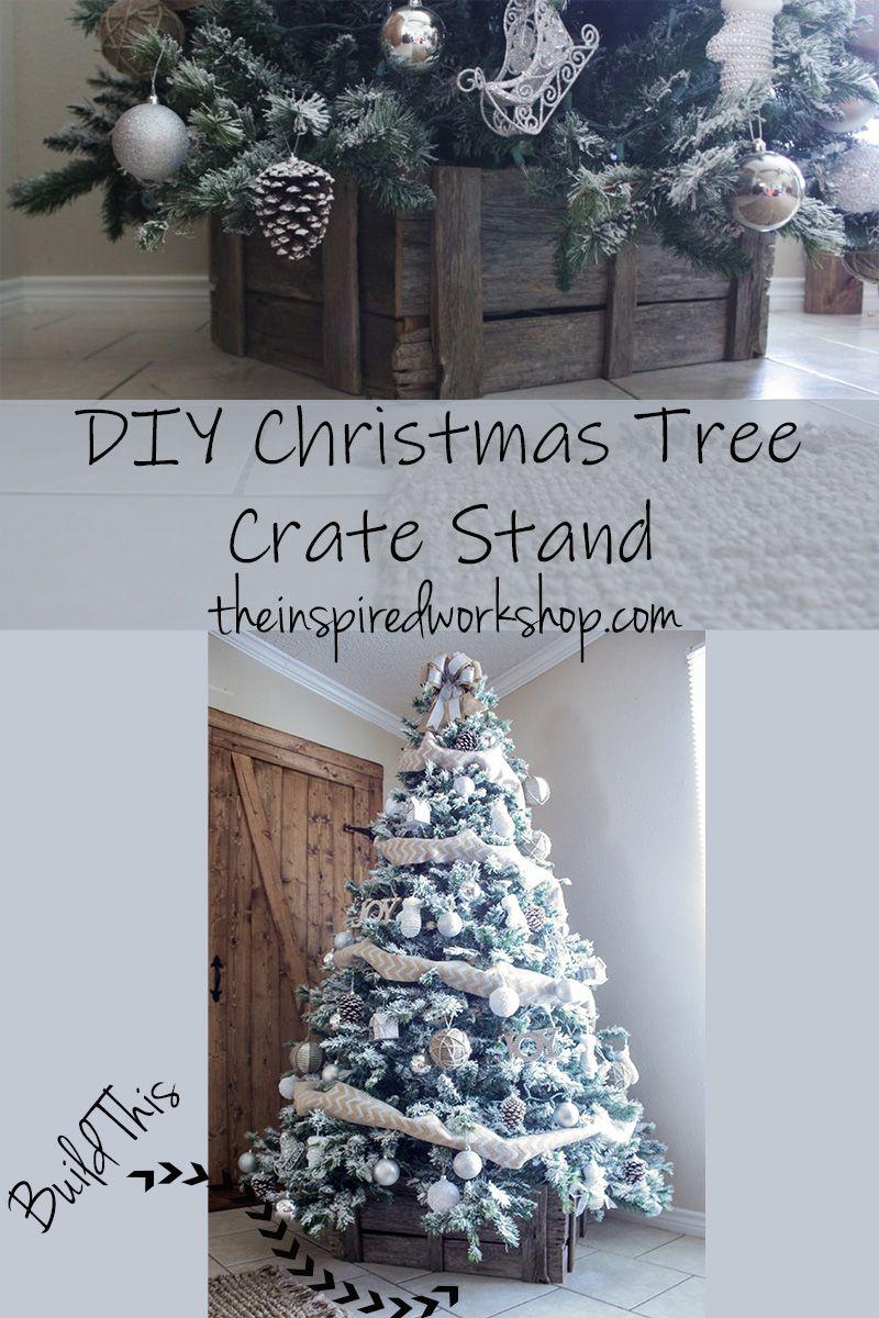 DIY Christmas Tree Crate Stand Christmas tree stand diy