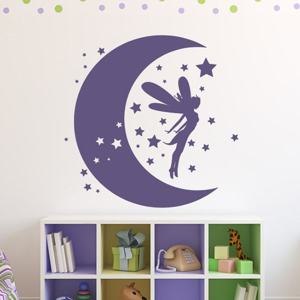 SWEET DREAMS with fairy  STICKER  CHILDRENS BEDROOM stars girls bedroom decal