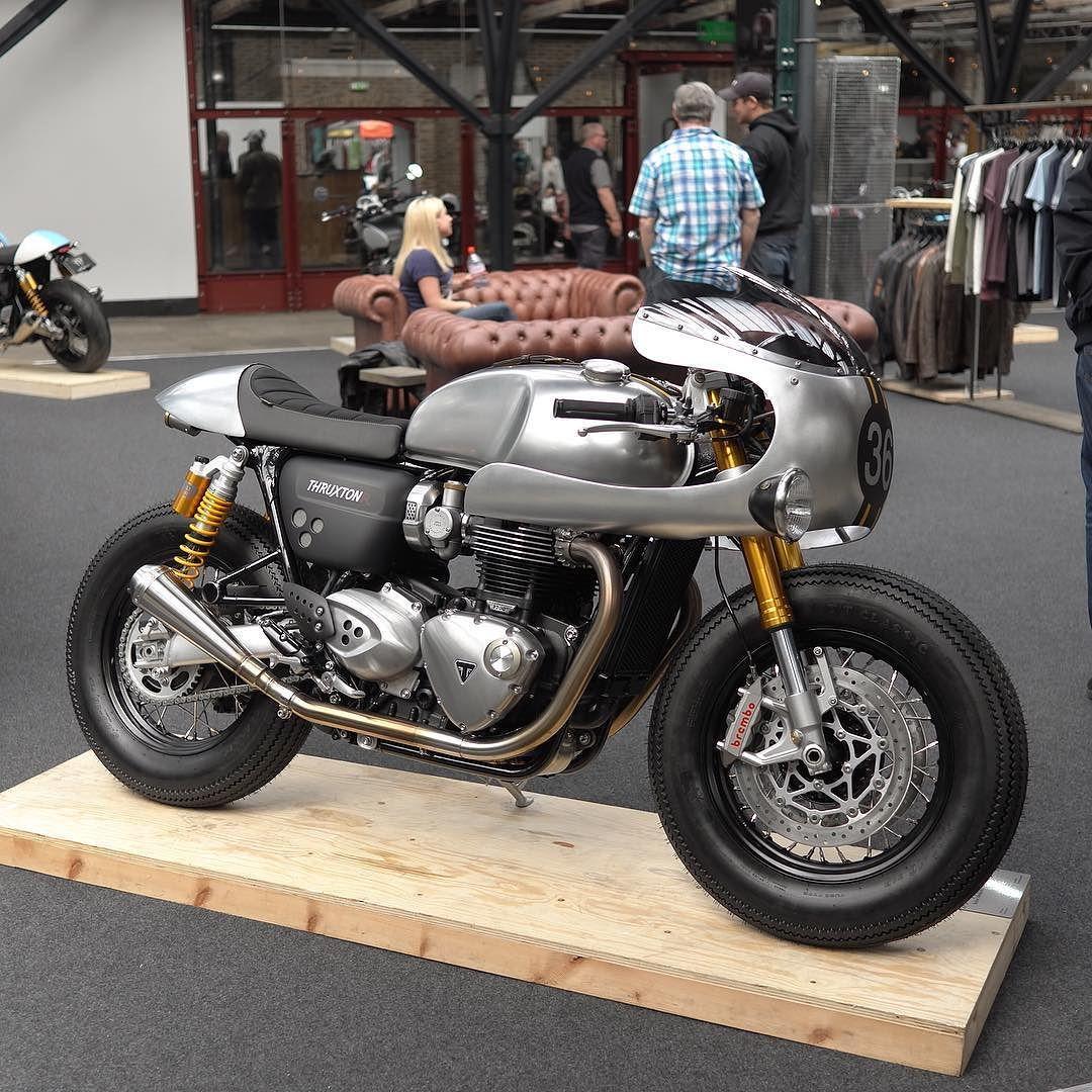 Barbourinternational X Triumph Thruxton R By Cafe Racer Cafe