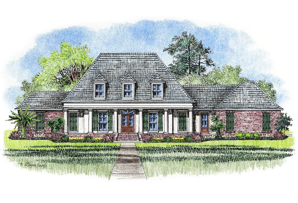 Acadian style house plans gomez acadian house plans for Acadian french country house plans
