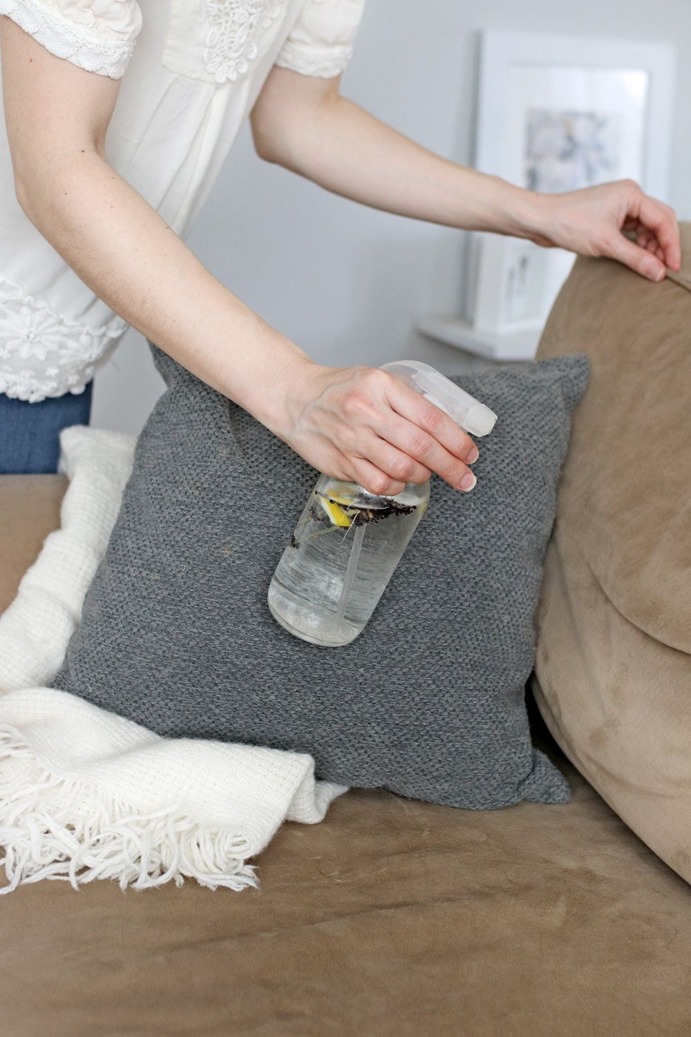 Freshen Up Your Furniture With This Diy Upholstery Spray Recipe Diy Upholstery Cleaner Upholstery Cleaner How To Clean Furniture