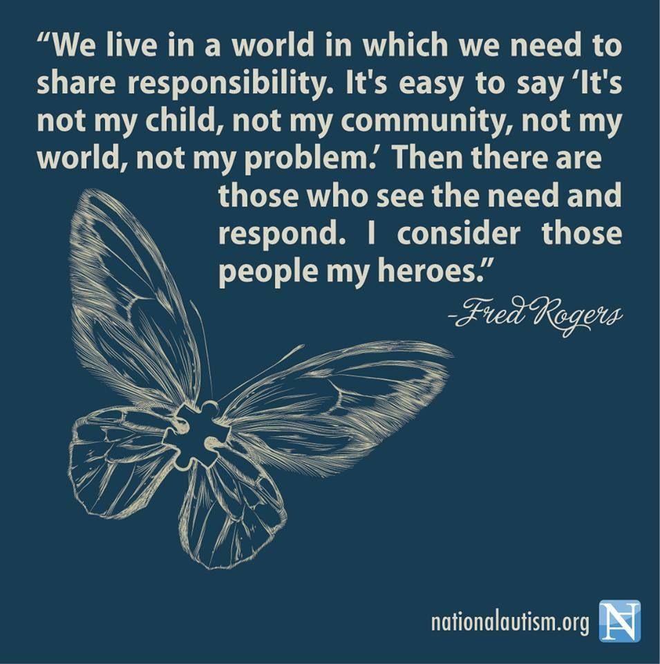 Image result for we live in a world in which we need to share responsibility, mr rogers