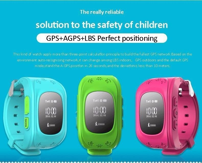 GPS Kid Safe smart Locator Tracker Baby Wristwatch