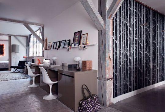 Bureau double pour travailler en famille ! - Petit loft en famille - CôtéMaison.fr