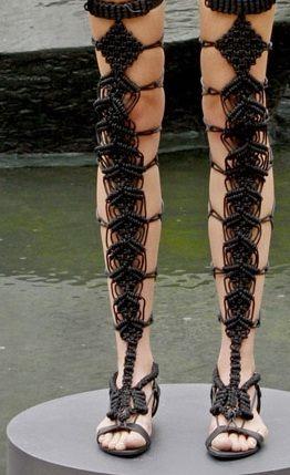 49281398477 macrame gladiator sandals! Very Celtic