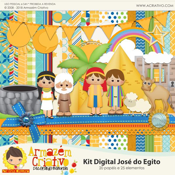 Kit digital José do Egito  - Armazém Criativo - www.acriativo.com