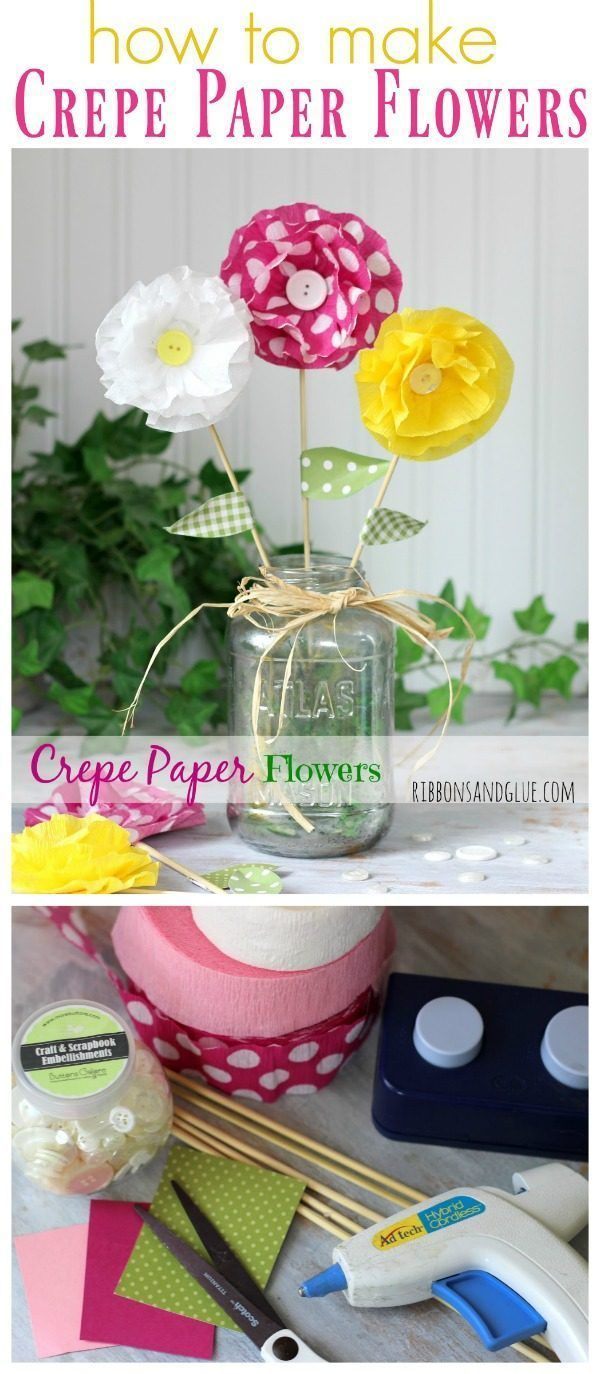 How To Make Crepe Paper Flowers Pinterest Paper Flowers Diy
