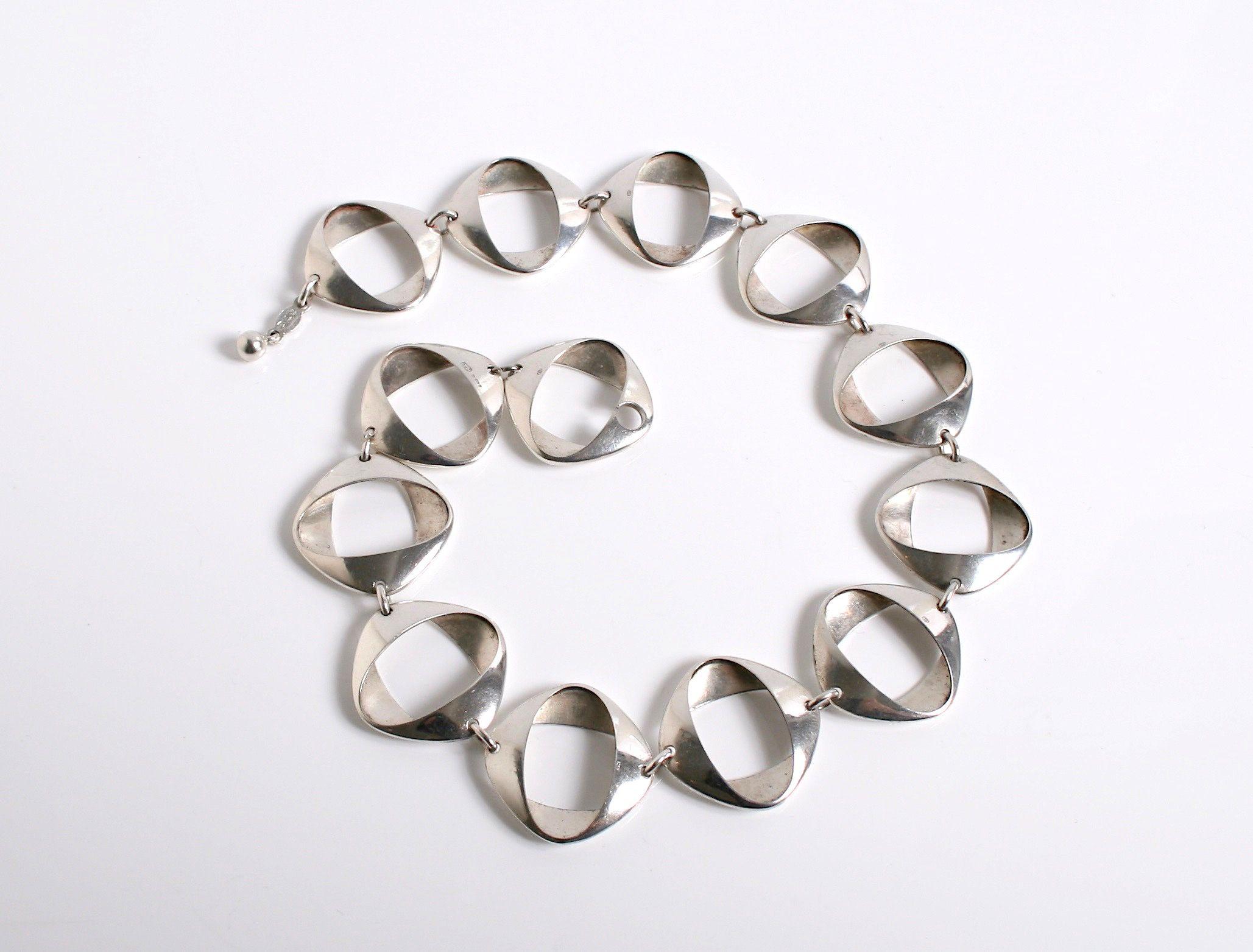 Rare Henning Koppel Necklace For Georg Jensen Denmark C 1960 Jewelry Art Jewelry Necklace Designs