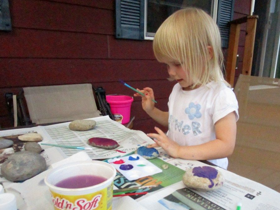 Create pet rocks for your yard or garden this summer & fall. Great Christmas & Holiday gifts for the grandparents. Hike for rocks, wash them, paint them with acrylic paint, and enjoy! Painting Rocks is Fun!