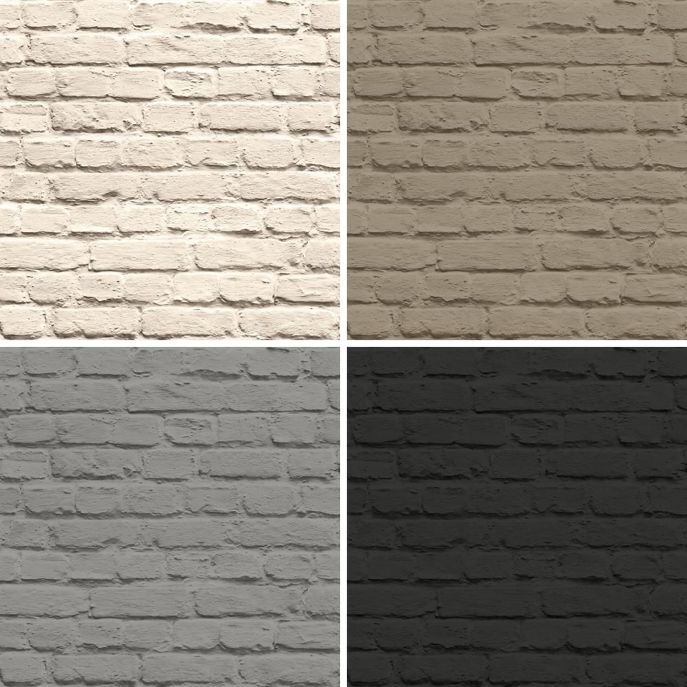 NEW MURIVA PAINTED BRICK FAUX STONE WALL MURAL WASHABLE VINYL WALLPAPER ROLL