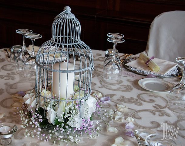 Bird cage arrangements at grand hotel dino