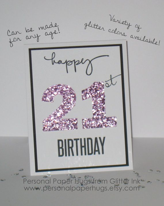 Milestone Birthday Card Personalized Glitter For Fri
