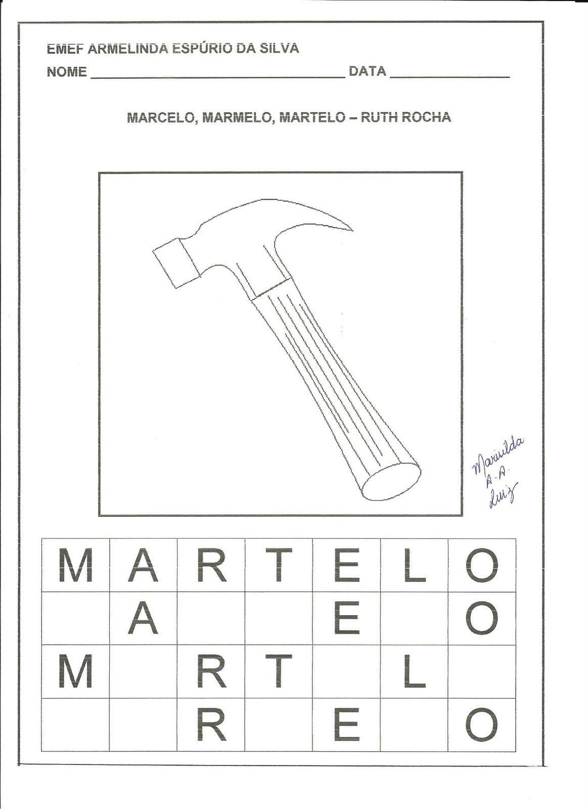 Marcelo Marmelo Martelo Ruth Rocha Em 2020 Com Imagens