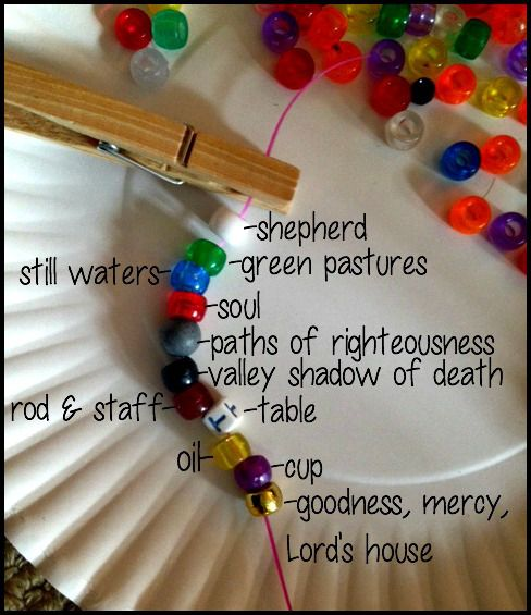 4 Activities For Memorizing Psalm 23 Crafts For Kids